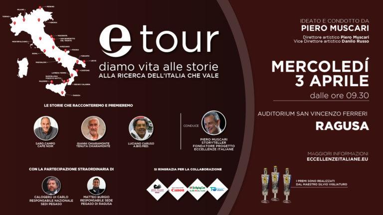 Etour arriva anche a Ragusa. La decima tappa del progetto di Eccellenze Italiane